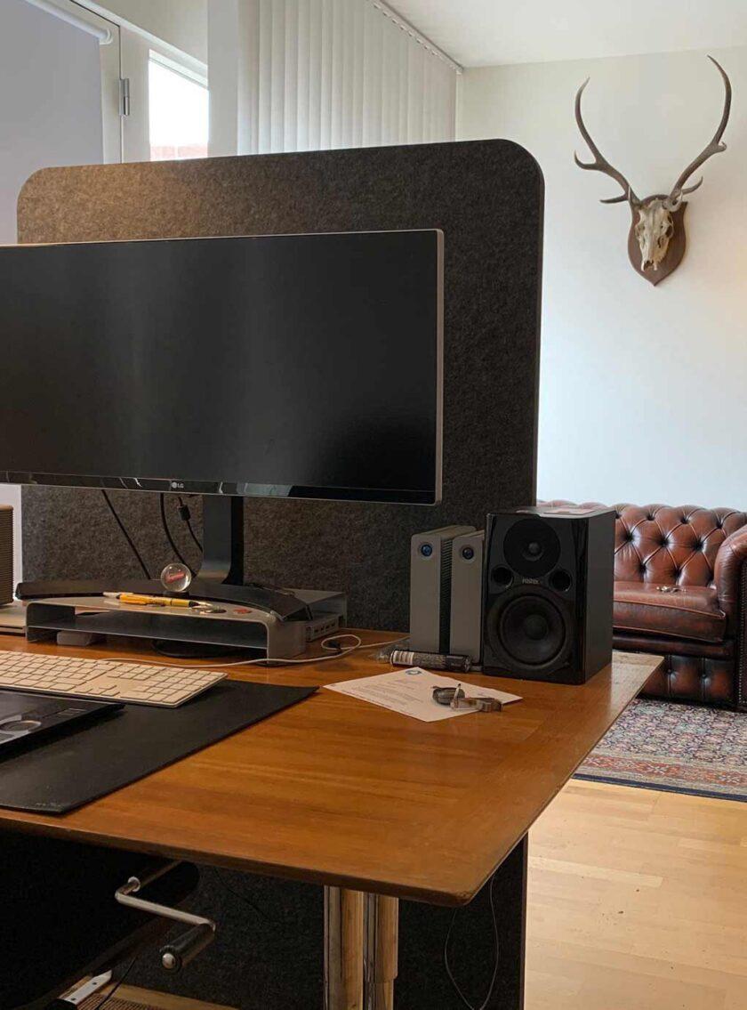 akoestisch scherm kantoor vrijstaand veilig werken