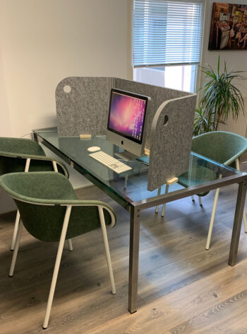 akoestisch thuiswerk scherm tafel inklapbaar