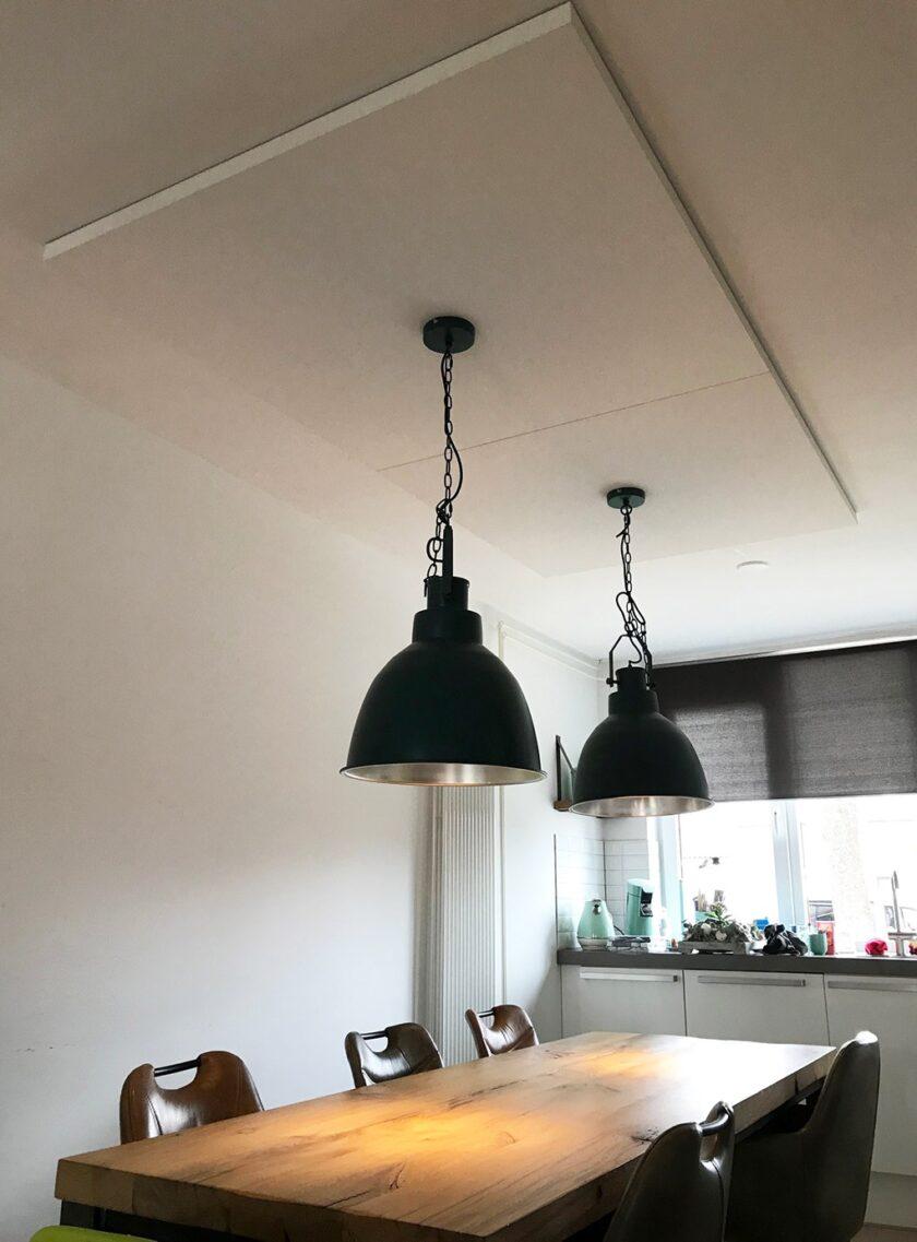 akoestisch plafondpaneel direct control woonkamer keuken
