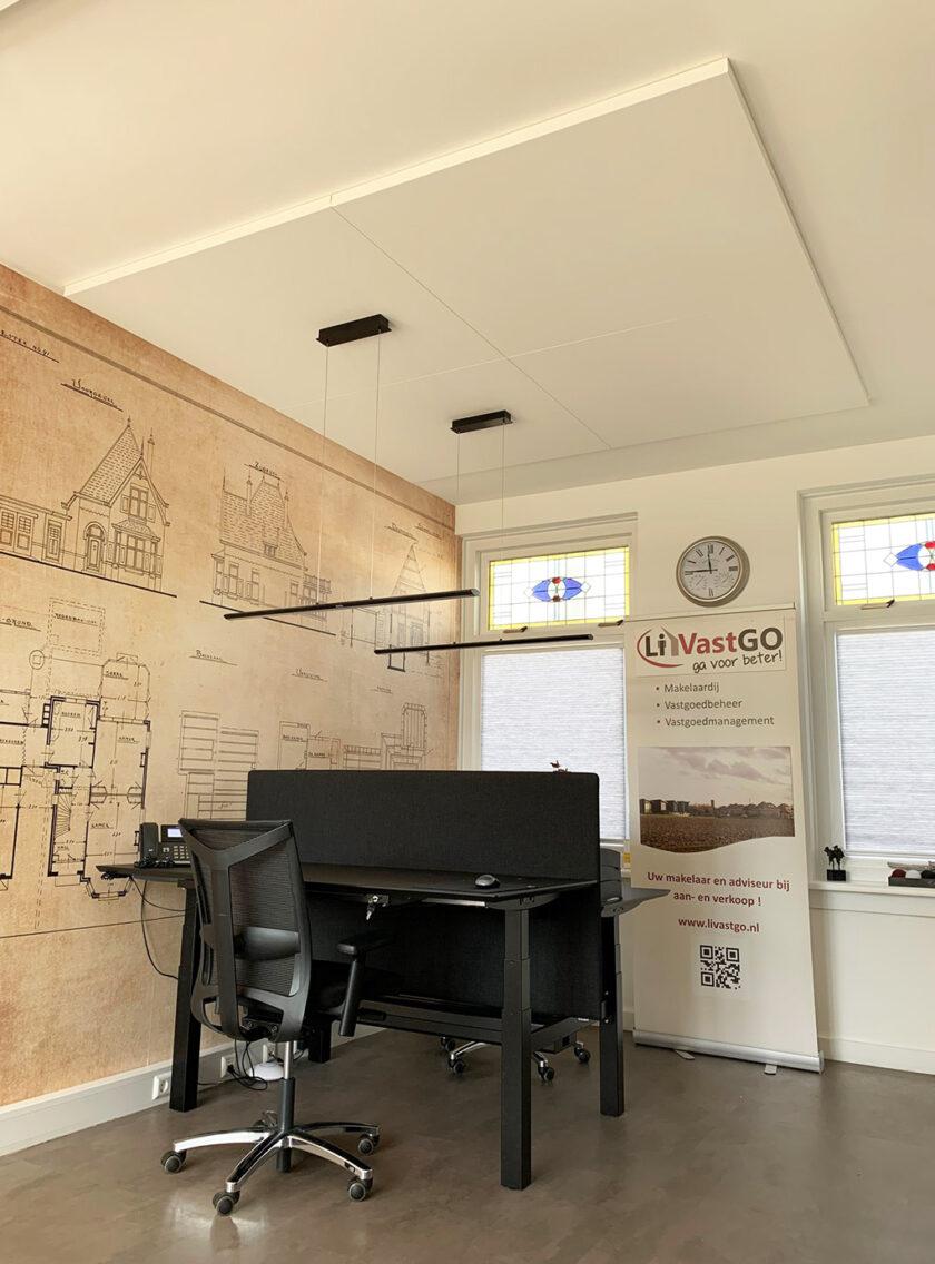plafondpaneel kaderloos kantoor