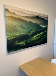 akoestiek tandartspraktijk fotopaneel
