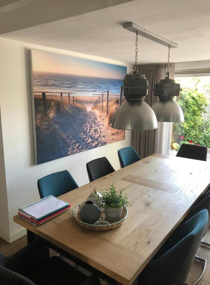 akoestisch fotopaneel woonkamer strand