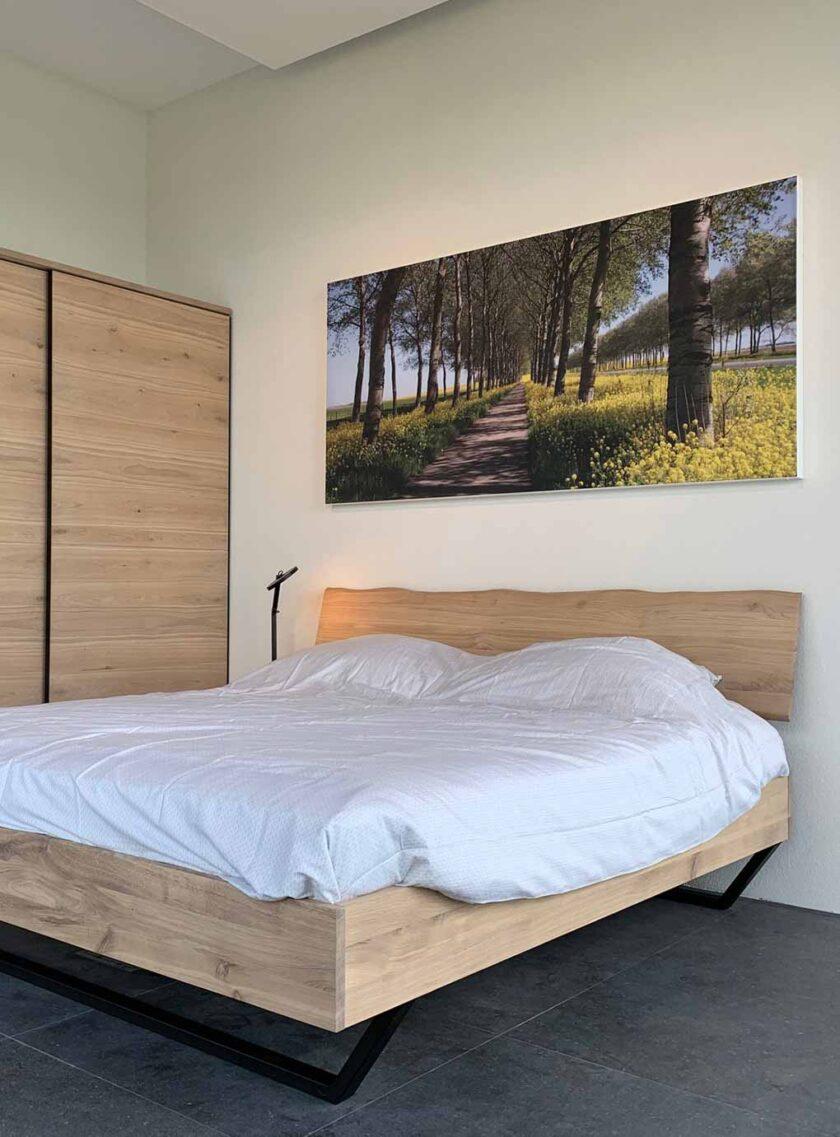 akoestisch fotopaneel slaapkamer bos natuur