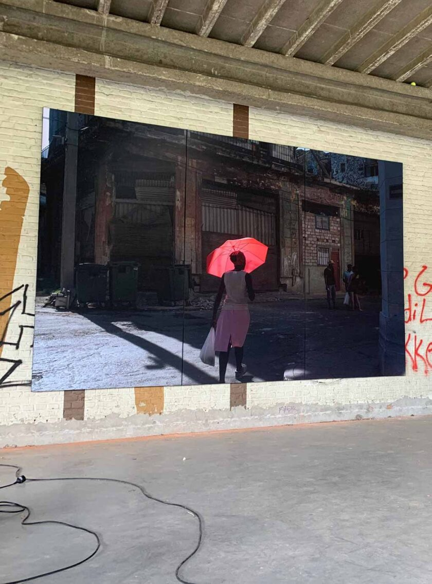 akoestisch fotopaneel terras cuba horeca