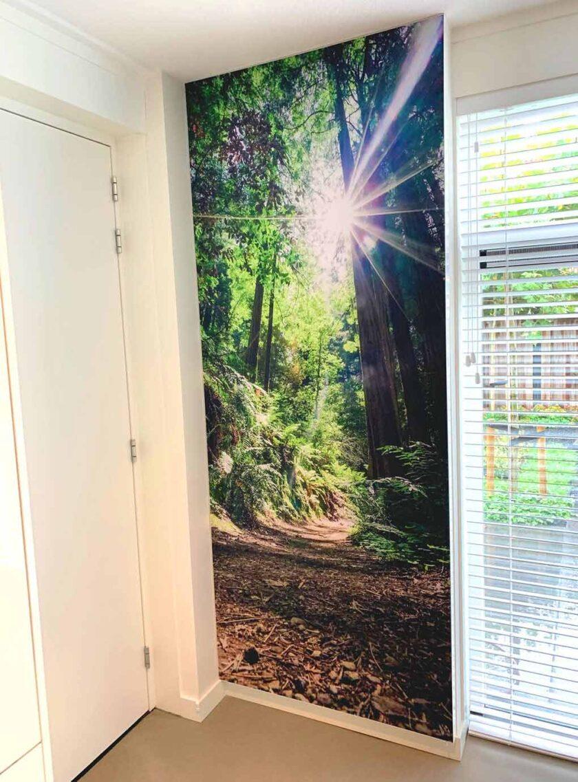 akoestisch fotopaneel keuken woning natuur