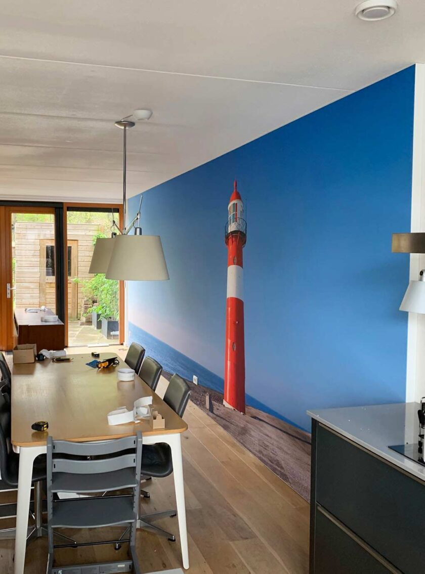 akoestisch fotopaneel woonkamer vuurtoren