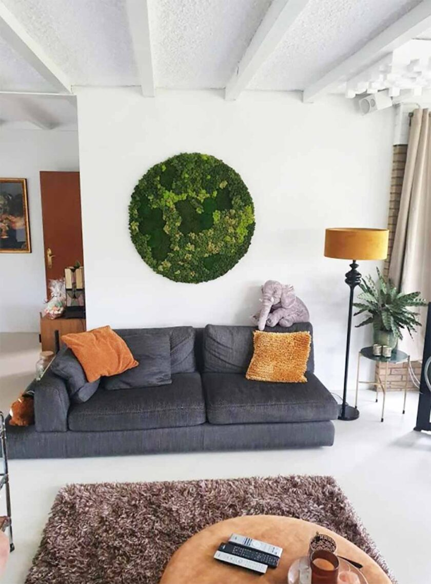 akoestisch mosschilderij circle