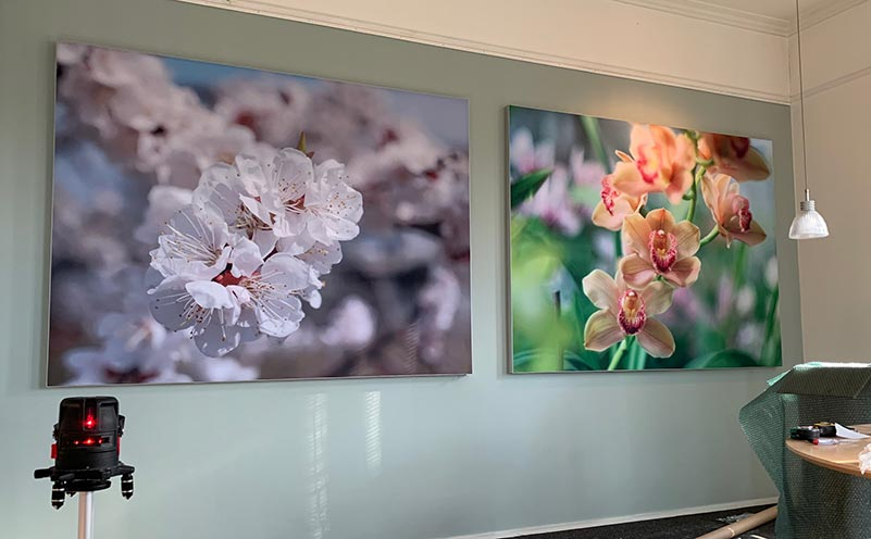 akoestische wandpanelen bloemen fotopaneel