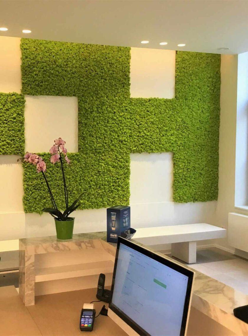 mosschilderij kantoor wand kantine